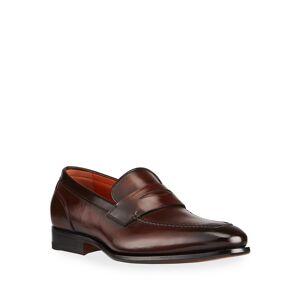 Santoni Men's Radar Leather Penny Loafers - Size: 12D