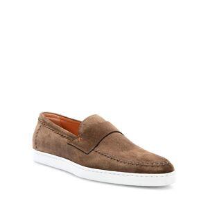 Santoni Men's Banker Stitched Suede Loafers - Size: 11D