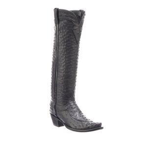 Lucchese Mattea Ostrich Knee Boots (Made to Order) - Size: 8B / 38EU