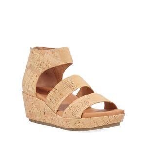Gentle Souls Milena Cork Demi-Wedge Sandals