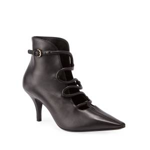 Salvatore Ferragamo Ciconia Leather Ankle Booties