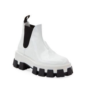 Prada Patent Leather Platform Boots