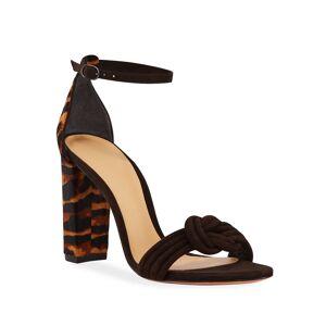 Alexandre Birman Vicky Tiger Calf Hair Sandals
