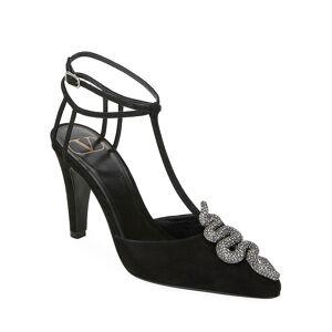 Valentino Garavani Maison Suede Snake Pumps  - BLACK - Gender: female - Size: 10B / 40EU