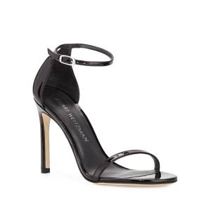 Stuart Weitzman Nudistsong Patent Ankle-Wrap Sandals - Size: 5B / 35EU