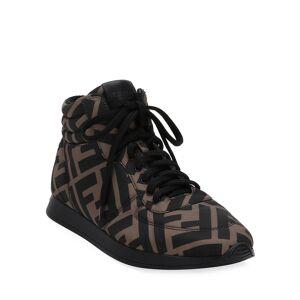 Fendi FFreedom High-Top Sneakers  - BROWN - Gender: female - Size: 6B / 36EU