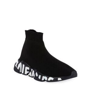 Balenciaga Stretch-Knit High-Top Sock Trainer  - BLACK - Gender: female - Size: 5B / 35EU