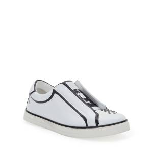 Fendi Logo Low-Top Skater Sneakers  - WHITE - Gender: female - Size: 9B / 39EU