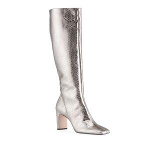 Schutz Diasy Metallic Mock-Croc Tall Boots - Size: 6.5B