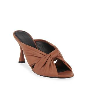 Balenciaga Drapey Knotted Napa Slide Sandals - Size: 6.5B / 36.5EU