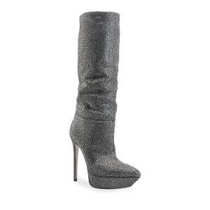 Rene Caovilla Strass Stiletto Platform Boots - Size: 8.5B / 38.5EU