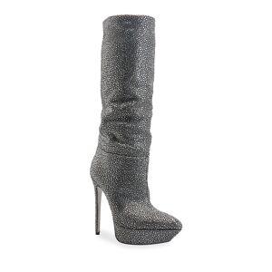 Rene Caovilla Strass Stiletto Platform Boots - Size: 6B / 36EU