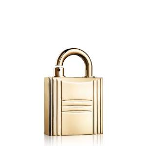 Hermès Refillable Lock Spray, Gold Tone, 0.3 oz, 8.0 oz.