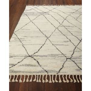 NourCouture Kirsten Hand-Knotted Shag Area Rug, 9' x 12' - IVORY