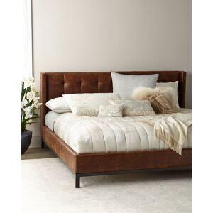 Patterson Tufted Platform King Bed  - Size: unisex