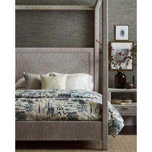 Palecek Woodside Canopy King Bed, White Sand