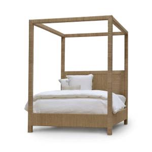 Palecek Woodside Canopy California King Bed, Natural