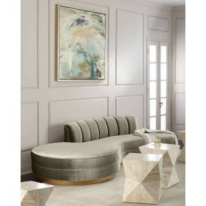 """Haute House Layla Chanel Tufted Curved Sofa 121""""  - Size: unisex"""