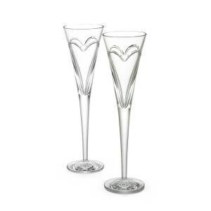 Waterford Crystal Wishes, Love, & Romance Flutes, Set of 2  - Size: unisex