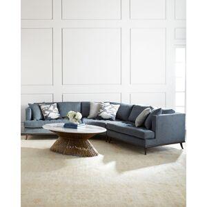 Ambella Capri Curved Sectional Sofa  - SLATE BLUE - Gender: unisex