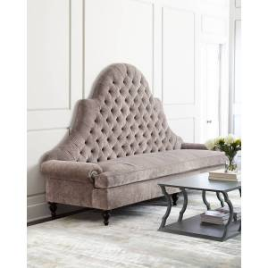 Old Hickory Tannery Regency Tufted Sofa  - CHARCOAL - Gender: unisex