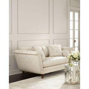 Ambella Ivory Trellis Sofa  - Size: unisex
