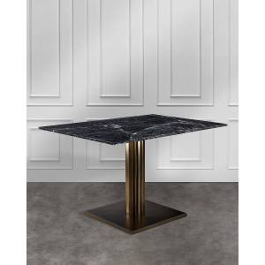 Interlude Home Annick Dining Table - BRONZE/ BLACK