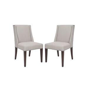 "Two ""Lauren"" Linen Side Chairs"