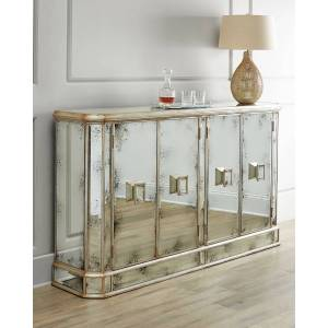 John-Richard Collection Delancey Sideboard - MIRROR/GOLD TRIM