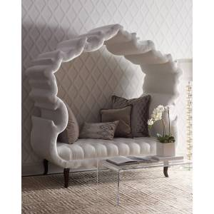 Haute House White Thebes Bench - WHITE
