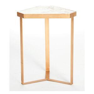 Global Views Lennon Tri-Hex Marble Table