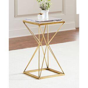 John-Richard Collection Geometric Brass Martini Table