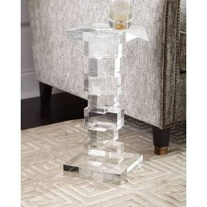John-Richard Collection Petite Duchess Crystal Cube Side Table