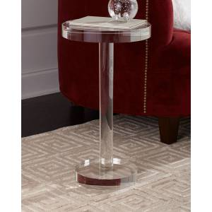John-Richard Collection Round Crystal Martini Table