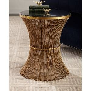 Antonella Twisted Gold Side Table