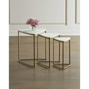 Remy Nesting End Tables - GOLD
