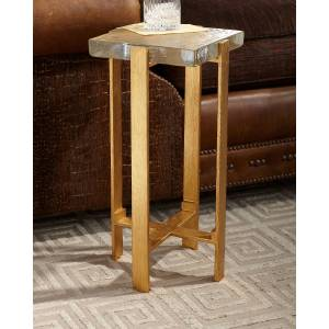 John-Richard Collection Gold Dusted Martini Table - GOLD