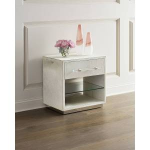 Interlude Home Cassian Hair on Hide Bedside Chest