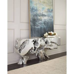 Philips Freeform Silver Leaf Console Table