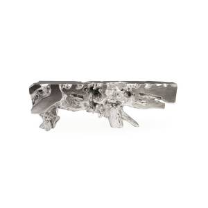 Philips Large Freeform Silver Leaf Console Table
