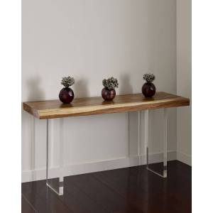 Philips Floating Chamcha Wood Console Table