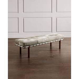 Interlude Home Honor Hair Hide Bench