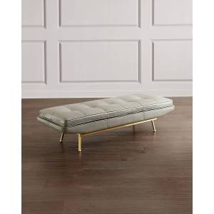 Interlude Home Klaus Leather Bench