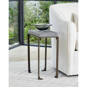 Scott Small Zen Side Table with Flamed Granite Top - FOREST BLACK