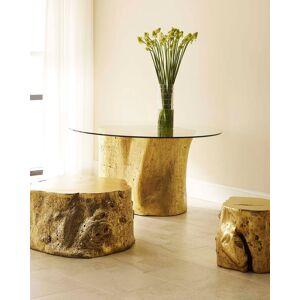 Philips Log Side Table - GOLD LEAF
