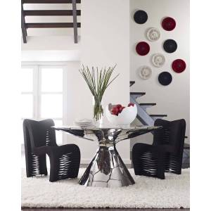 Philips Crazy Cut Dining Table - SILVER