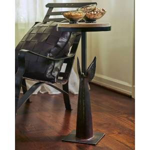 Jan Barboglio Angel de Paz Stone-Top Side Table