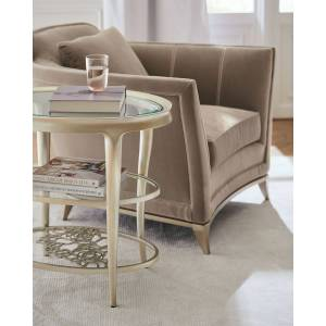 caracole Wild Flower Accent Table - CHAMPAGNE