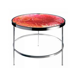 Imprevisible Side Table in Solar Red & Amber