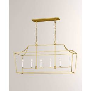 C & M by Chapman and Myers Southold 6-Light Linear Lantern
